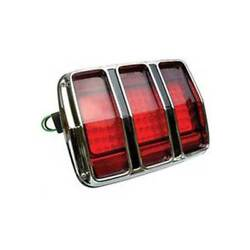 Macs Auto Parts 1965-1966 Mustang Led Tail Light Lens With Bezel 44-380882-1