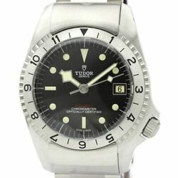 Auth Tudor Watch Black Bay P01 Ss Automatic 70150 Leather Date Case42mm F/s