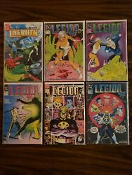 New Old Stock Lot Of 6 Vintage Legion And Infinity Comic Books Lot Run 1984-1992