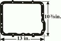Macs Auto Parts 1960-68 Ford And Mercury Transmission Pan Gasket - Cruise-o-matic
