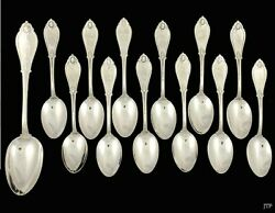 Sterling Silver Whiting Armor 1871 12 Teaspoons And 1 Tablespoon