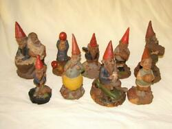 Lot Of 9 Signed Tom Clark Gnomes By Cairn Studio S 33-24-59-29-77-38-36-84-32