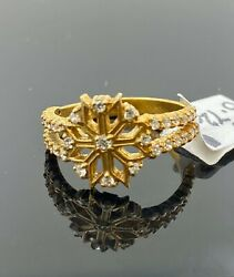 22k Ring Solid Gold Elegant Charm Ladies Floral Band Size 7 Resizable R2120
