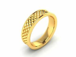 22k Ring Solid Yellow Gold Ladies Jewelry Modern Cross Cutting Band Cgr11