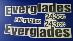 Everglades 243 Boat Emblems 32 Black + Free Fast Delivery Dhl Express -raised
