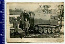 Photo Ussr Army Soviet Tracked Snow And Swamp-going Vehicle ГТ-Сtank - Rare