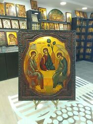 Holy Trinity Of Roublev Handpainted Orthodox Icon