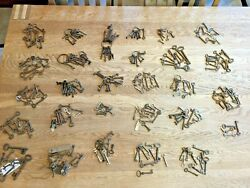 285 X Collection Job Lot Of Old Antique Vintage Keys Padlock Box Small Little C