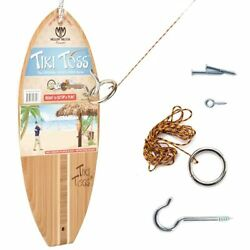 Tiki Toss Original Hook And Ring Game Set - 100 Bamboo With All Hardware Inc...