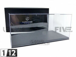 Luxcase 1/12 - Display Case Show-case 1/12th - Black Leather - Lc12001a