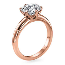 6550 1 Ct Diamond Engagement Ring 14k Rose Gold Solitaire Si2 E 00351396