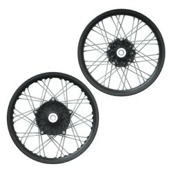 Indian Aluminum 19 In. Front And 18 In. Rear Spoke Wheel Set Black 2883509