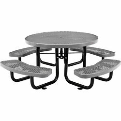 46 Child Size Round Expanded Picnic Table, Gray