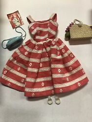 Barbie Doll Busy Morning 956 Dress Fruit Purse Shoes Vintage 1963-blue Phone