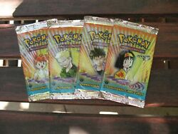 4 X Sealed Gym Heroes Card Packs Wotc - Pokemon Cards - Unweighed