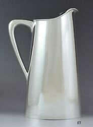 Baldwin And Miller Midcentury Modern Hand Made Sterling Silver Water Pitcher 10