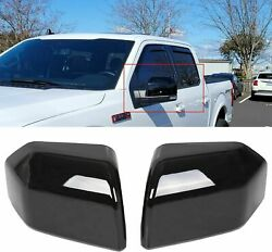 For 2015-2020 Ford F150 Top Glossy Black Replacement Mirror Covers Caps F-150
