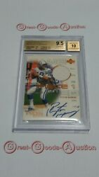 2000 Upper Deck Pros And Prospects Signature Jersey Auto Peyton Manning Bgs 9.5/10