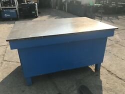 """Welding Table, Fixture Table, Fabrication Table 6'x 4'x 1"""" Solid Top — Will Ship"""
