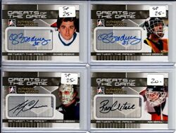 2009-10 Between The Pipes Autographs Arh Ron Hextall Sp Greats Of The Game