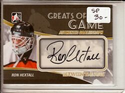 2010-11 Between The Pipes Autographs Arh Ron Hextall Sp Greats Of The Game
