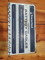 Guaranteed Universal Battery Cables Vintage Display Sign W/hooks Gas Oil Station