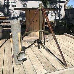 Awesome Antique Vintage Wood Camera Tripod Extension Legs With Metal Case