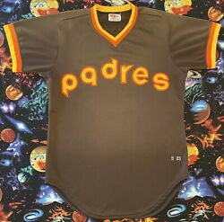 Authentic Wilson 1983 Mlb San Diego Padres Ruppert Jones Game Issued Jersey