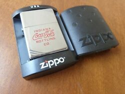 Very Rare 1993 Limited Zippo Lighter Coca Cola Indiana Bottling Co Pat. 2032695