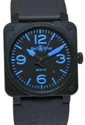 Bell And Ross Instrument Pvd Black And Blue Dial Mens 42mm Watch/box Br03-92-s