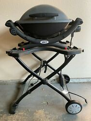Weber Q1400 Electric Grill With Porcelain Cooking Grates