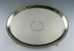 Antique American Sterling Silver Je Caldwell Footed Tray/platter