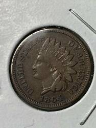 Small Cents Indian Head 1864 Not Certified  L