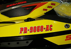 Boat Jet Ski Pwc Custom Registration Numbers 3d Domed Decals Stickers 17.5 X 3
