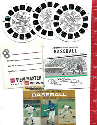 Vintage View-master 3 Reel Stereo Pictures B953 Instructlonal Baseball