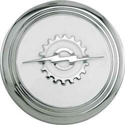 Macs Auto Parts Ford Pickup Truck Horn Button - Stainless Steel - Background