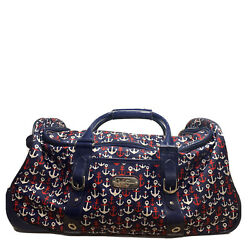 Jessica Simpson 22 Anchor Duffle Bag Travel Overnight Carry-on Weekend W/wheels