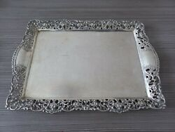 Germany Antique Solid Silver Serving Tray / Plate / Tablett