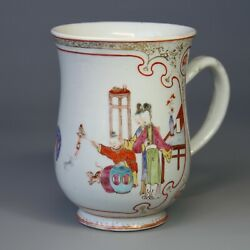Antique Chinese Export Porcelain Mug 18-19th C. H. 6 In