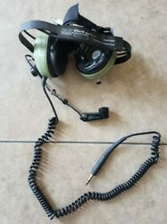David Clark H3342 Behind The Head Ground Support Headset For Parts Only