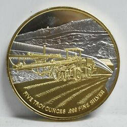 1994 Echo Bay Mines And039kettle River Operationsand039 5-oz .999 Silver Rd W/gold Overlay