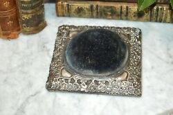 Antique English Synyer And Beddoes Sterling Silver Pin Cushion Birmingham 1900