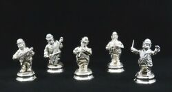Charming Vtg Spanish Silver 5pc Band Musician Figurines