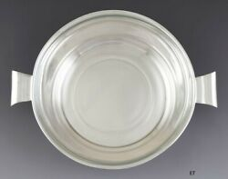 Antique C1930s Lovely Sterling Silver Art Deco Glass Lined Bowl 11