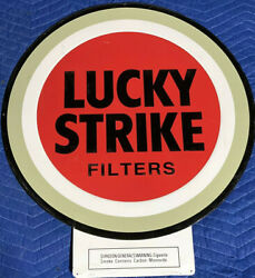 1997 Lucky Strike Filters Round Cigarette Advertising Tin Sign 27 X 24 Bandw Co