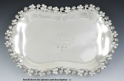 Antique C1890 Theodore Starr Sterling Silver Clover Serving Dish/tray 14.5