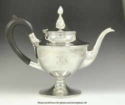 Vintage Gebelein American Sterling Silver Antique Style Teapot Coffeepot