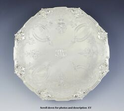 Antique 1907 Hand Chased Gorham Sterling Silver Compote Pedestal Dish 12
