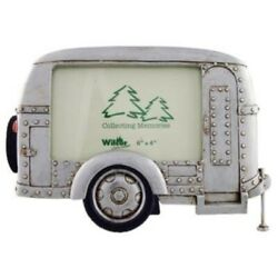 Silver Vintage Camper Trailer Rv Collectible Photo Picture Frame 4x6 Horizont...