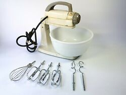 Vintage General Electric 12-speed Stand Mixer W 6 Attachments Cat No143m9 Rare